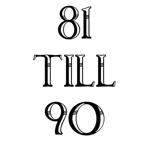 81 to 90